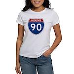 I-90 Interstate Hwy Women's T-Shirt