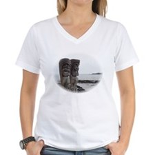 Place of Refuge Tikis - V-Neck Tee