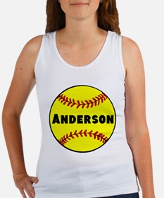 Personalized Softball Women's Tank Top