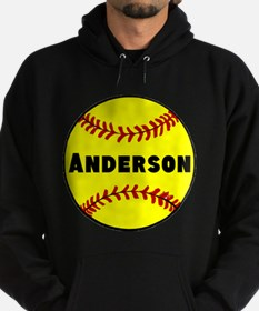 Personalized Softball Hoodie (dark)