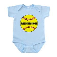 Personalized Softball Infant Bodysuit