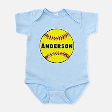 Personalized Softball Onesie