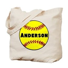 Personalized Softball Tote Bag