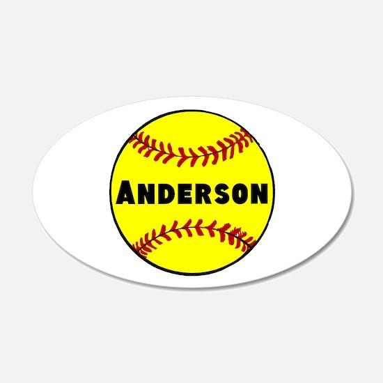 Personalized Softball Wall Sticker