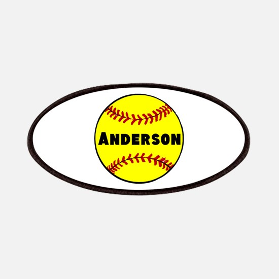 Personalized Softball Patches