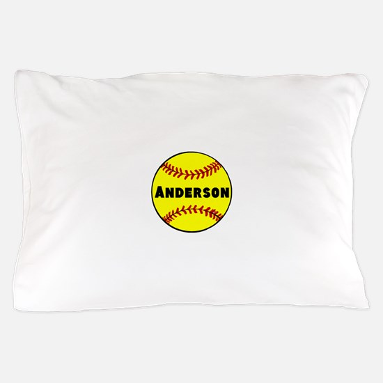 Personalized Softball Pillow Case