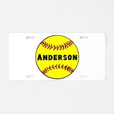 Personalized Softball Aluminum License Plate