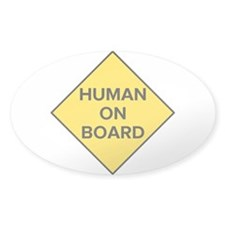 Human on Board Oval Decal