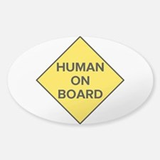 Human on Board Oval Stickers