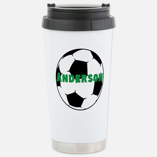 Personalized Soccer Stainless Steel Travel Mug