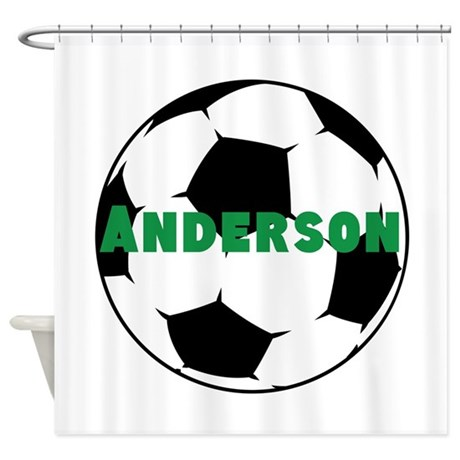 Good Personalized Soccer Shower Curtain