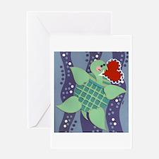 Sea Turtle Heart Greeting Card