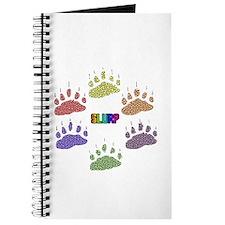 RAINBOW SLURP-6-RAINBOW PAWS Journal