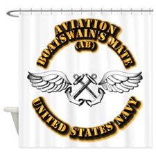 Navy - Rate - AB Shower Curtain