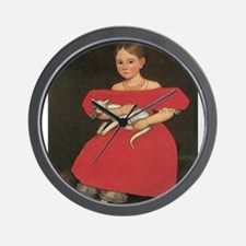 Ammi Phillips Girl in Red Wall Clock