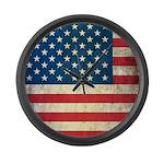 Vintage USA Flag Large Wall Clock