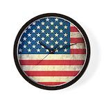 Vintage USA Flag Wall Clock