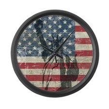Vintage Statue Of Liberty Large Wall Clock