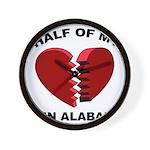Heart In Alabama Wall Clock