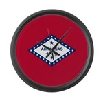 Arkansas Flag Large Wall Clock