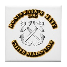 Navy - Rate - BM Tile Coaster