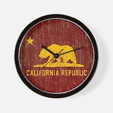 Vintage California Republic Wall Clock