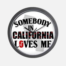 Somebody In California Wall Clock