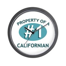 Property Of Californian Wall Clock