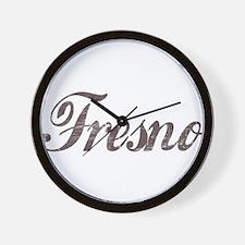 Vintage Fresno Wall Clock