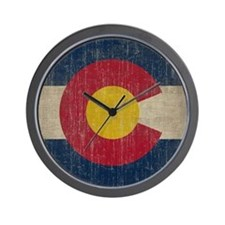 Vintage Colorado Flag Wall Clock