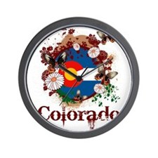 Butterfly Colorado Wall Clock