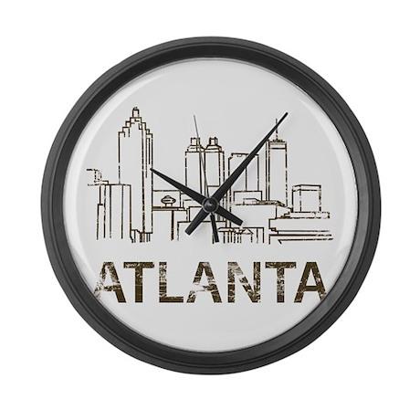 Vintage Atlanta Large Wall Clock