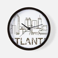 Vintage Atlanta Wall Clock