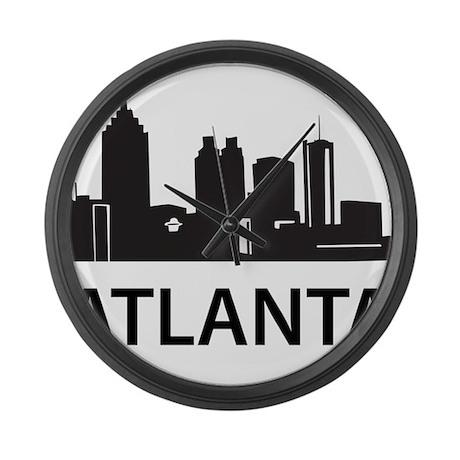Atlanta Skyline Large Wall Clock
