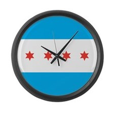 Chicago Flag Large Wall Clock