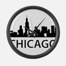 Chicago Skyline Large Wall Clock