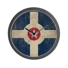 Vintage Indianapolis Flag Wall Clock