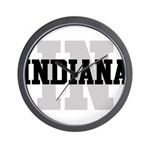 IN Indiana Wall Clock