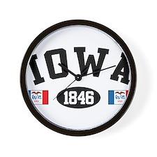 Iowa 1846 Wall Clock