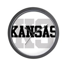 KS Kansas Wall Clock