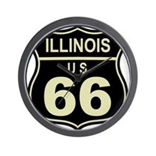 Kansas Route 66 Wall Clock