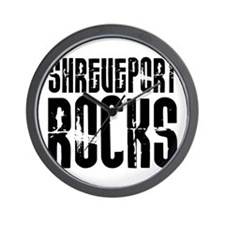 Shreveport Rocks Wall Clock