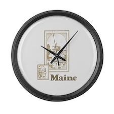 Vintage Maine Large Wall Clock