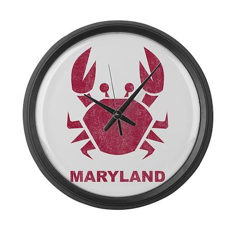 Crab Maryland Large Wall Clock