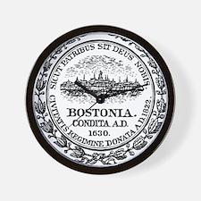 Boston Seal Wall Clock