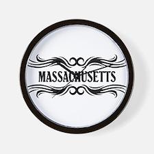 Massachusetts Tribal Tattoo Wall Clock