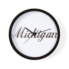 Vintage Michigan Wall Clock