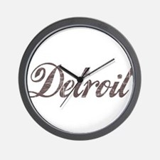 Vintage Detroit Wall Clock