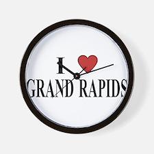 I Love Grand Rapids Wall Clock