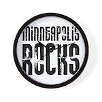 Minneapolis Rocks Wall Clock